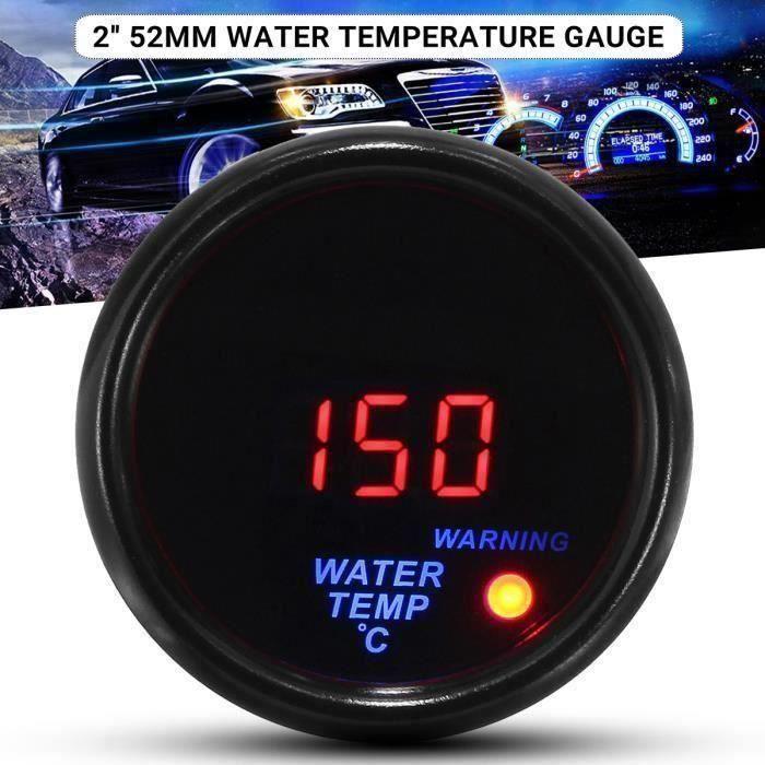 AA 2&quot 52mm 20-120℃ Jauge de Température de l'eau Affichage Numérique LED Compteur de Voiture Avec Capteur