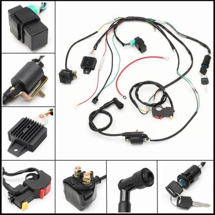Bobines d'allumage,Assemblage de bobines de câblage CDI, 50, 70, 90, 110 CC, pour ATV, Kit de Quad électrique, accessoires de