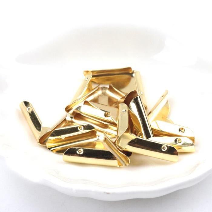 Accessoires albums,Coins en métal pour livre, Scrapbooking, Menu pour Album Photo, options de protection d'angle pour - Type gold