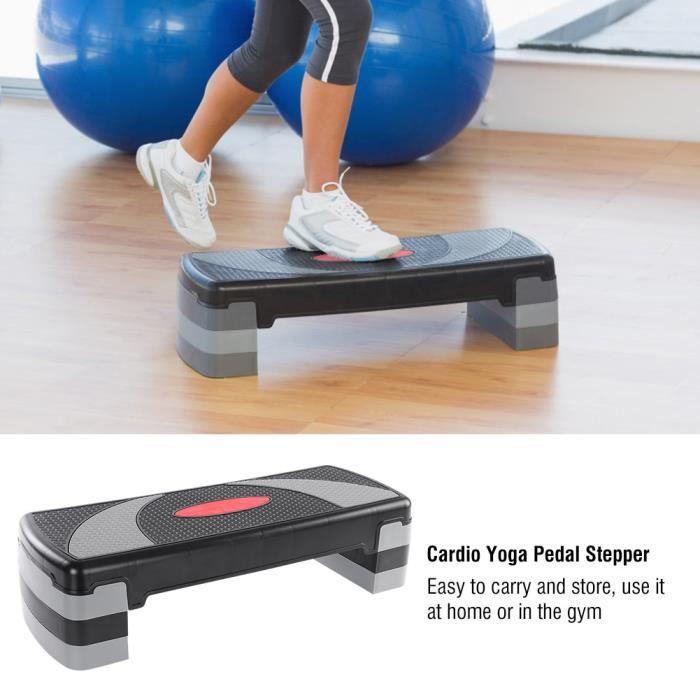 Step entraînement aérobic Easy 3 Niveaux Gris Noir HB014