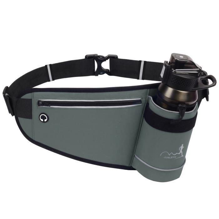 Sac de ceinture de taille d'hydratation de sports de plein air avec support de bouteille d'eau pour le jogging course à pied -d