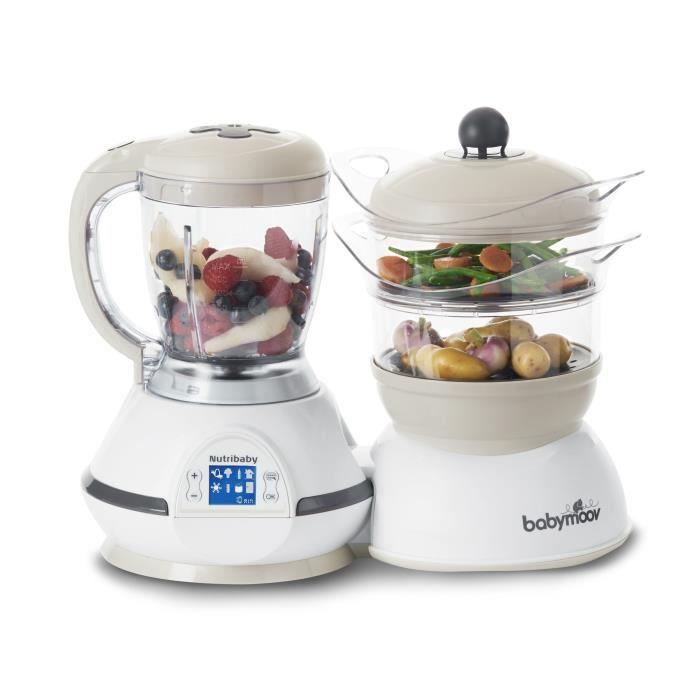 Babymoov Nutribaby Classic Crème - Robot Cuiseur Mixeur 5 en 1