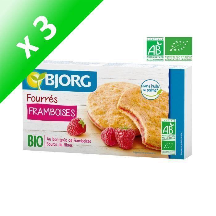 [LOT DE 3] BJORG Fourres aux Framboises - Bio - 175 g