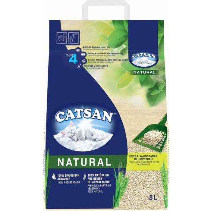 Catsan - Litière Natural Végétale Agglomérante pour Chat - 8L
