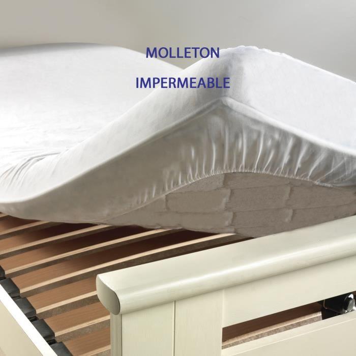 Protège matelas molleton+PVC 60x120