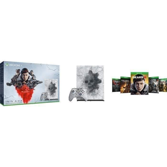 Xbox One X 1 To édition limitée + Gears 5