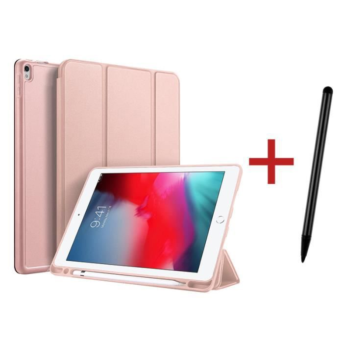 Housse Coque Étui iPad Air 3 (10,5 pouces 3ème Génération 2019)[ +Stylet ] avec Support Fonction et Réveil/Sommeil Automatique- Rose