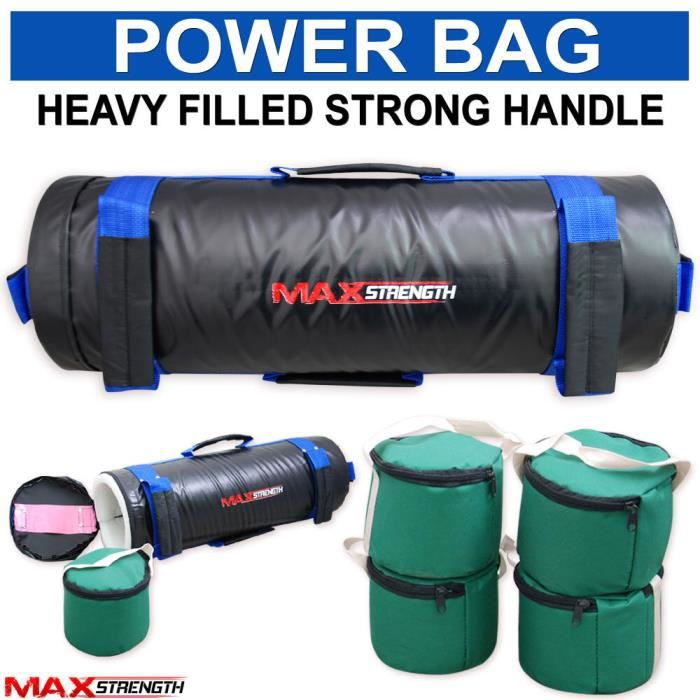Max Strength Boxe Power Bag Sac de sable Cross Fit Exercise Training MMA Sacs de poids 20kg