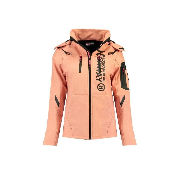 Softshell Femme Geographical Norway Truffe Corail