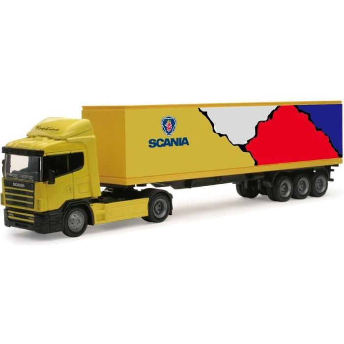 NEW RAY Camion MERCEDES Remorque - Miniature - 1/43° - 36 cm