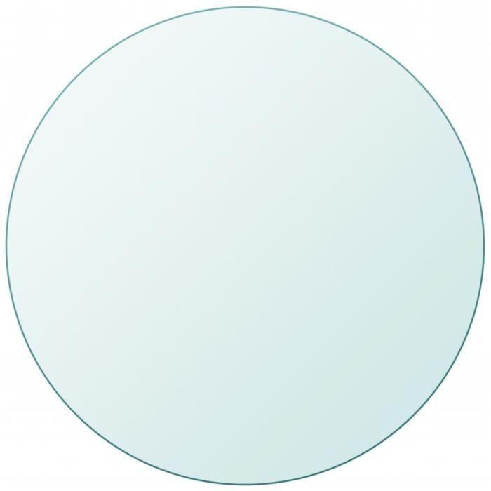 Dessus de table Plateaux de table ronde en verre trempé 400 mm