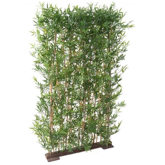 Plante artificielle haute gamme Spécial extérieur- Haie BAMBOU Artificiel coloris vert - Dim : 190 x 90 cm