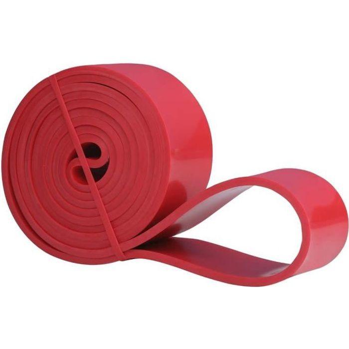 Résistance Élastique pour Fitness, Crossfit, Musculation, Yoga, Pilates - Rouge