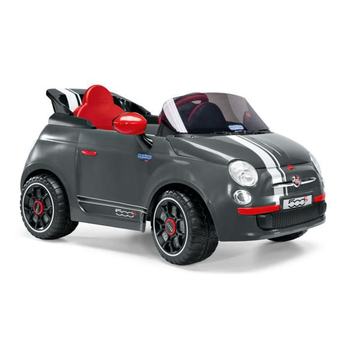 fiat 500 s grise gris achat vente voiture enfant cdiscount. Black Bedroom Furniture Sets. Home Design Ideas