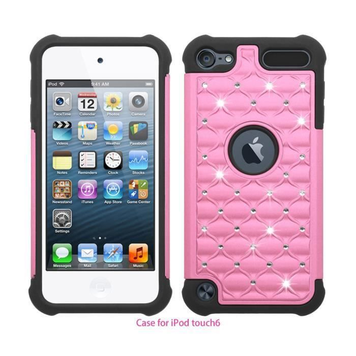 coque apple ipod touch 5 touch 6 rose 2 en 1 coque. Black Bedroom Furniture Sets. Home Design Ideas