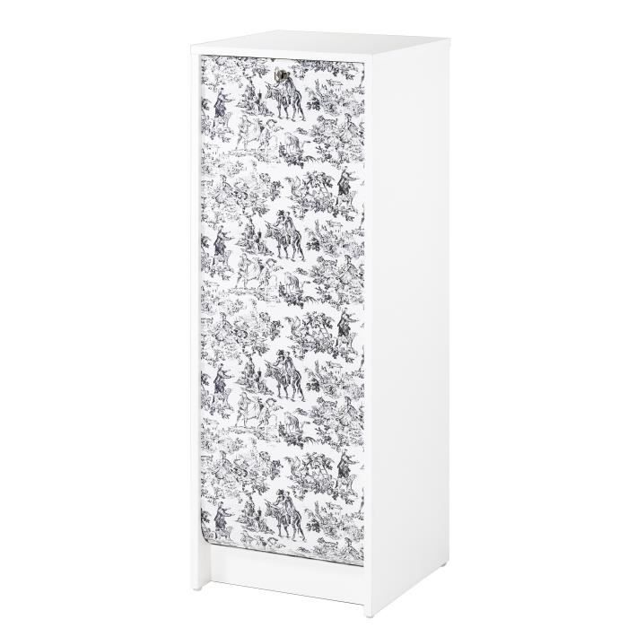 classeur rideau 37 8 cm blanc imprim toile de jouy. Black Bedroom Furniture Sets. Home Design Ideas