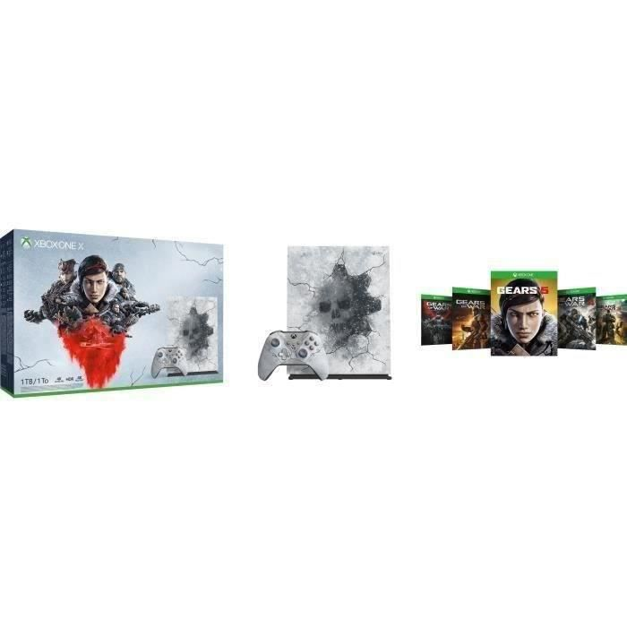 CONSOLE XBOX ONE Xbox One X 1 To Edition Limitée + 5 jeux Gears of