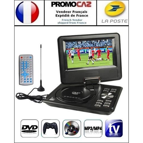 dvd console noir portable mp3 mp4 tv sd usb. Black Bedroom Furniture Sets. Home Design Ideas