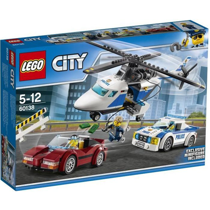 ASSEMBLAGE CONSTRUCTION LEGO® City 60138 La Course en Hélicoptère