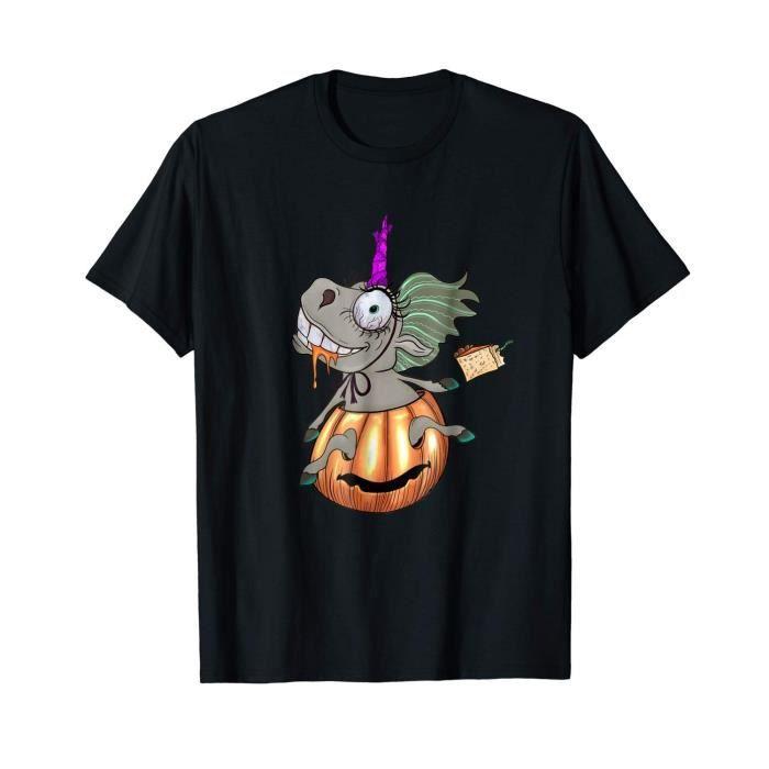 T-SHIRT T-shirt Licorne Halloween d'horreur Tee shirt Homm