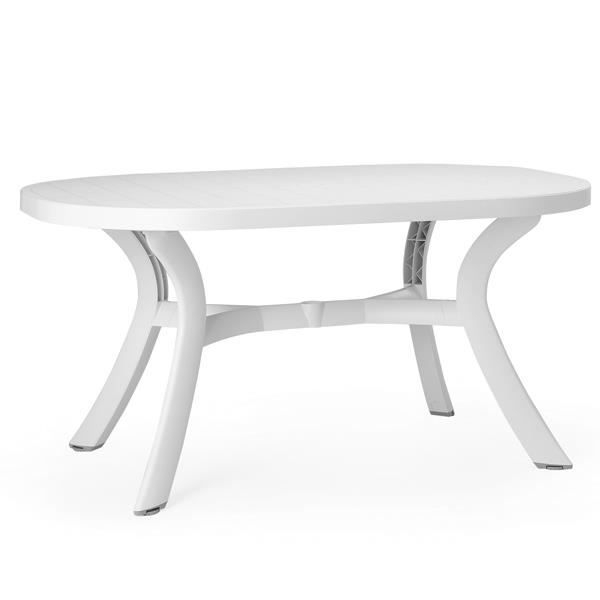 Table D Montable Ovale Nardi Toscana 145 Blanc Achat Vente Table De Jardin Table
