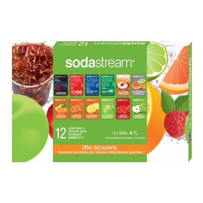 concentr s sodastream 30061138 12 saveurs achat vente sirop cdiscount. Black Bedroom Furniture Sets. Home Design Ideas