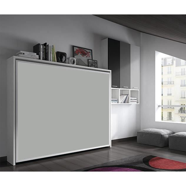 armoire lit escamotable fleet lat rale 140x190cm. Black Bedroom Furniture Sets. Home Design Ideas