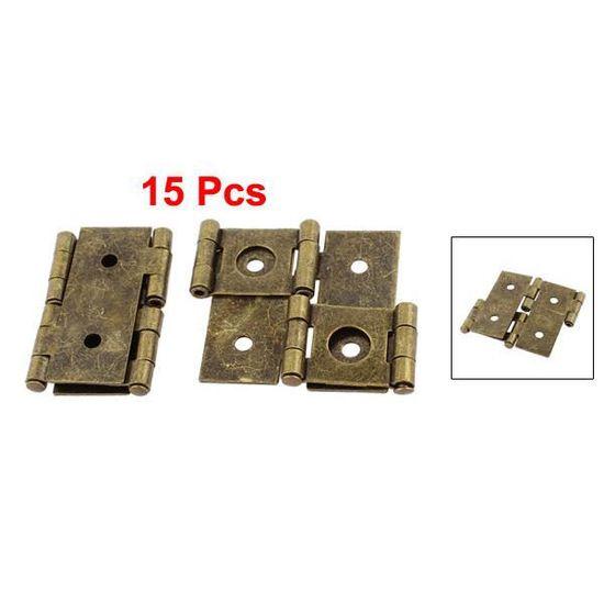 46mmx54mm style r/étro Paravent double effet ton bronze 15pcs charni/ère