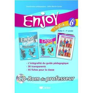 JEUNESSE ADOLESCENT ENJOY ENGLISH IN; 6ème ; CD-ROM du professeur (...