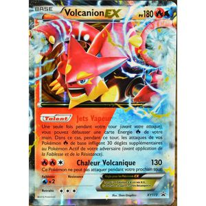 CARTE A COLLECTIONNER carte Pokémon XY173 Volcanion EX 180 PV
