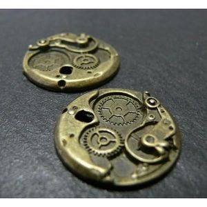 Perles 1 breloque bronze Machine Dimensions: 25x25x3mm