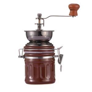 COMBINÉ EXPRESSO CAFETIÈRE Moulin à café Portable en acier inoxydable moulin