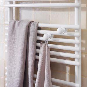 SÈCHE-SERVIETTE ÉLECT Patère ronde blanc satin pour sèche-serviettes The