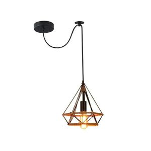 LUSTRE ET SUSPENSION EXBON Lustre Suspension Luminaire Cage diamant Fic