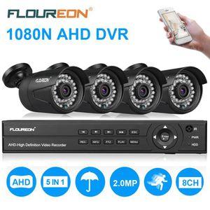 CAMÉRA DE SURVEILLANCE FLOUREON Kit Caméra de Sécurité Surveillance 1 X 8