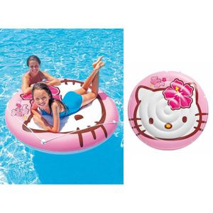 JEUX DE PISCINE Ile Hello Kitty gonflable à chevaucher