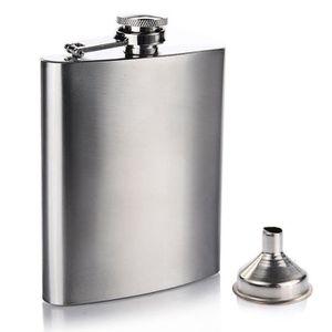 FLASQUE 7 OZ Flasque Alcool Hip Flask en Acier Inoxydable