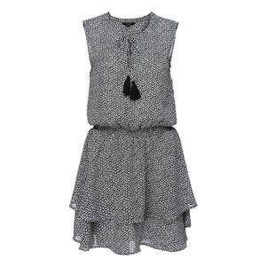 ROBE DEELUXE - JAZZY Robe Sans Manches Noir et Blanc à
