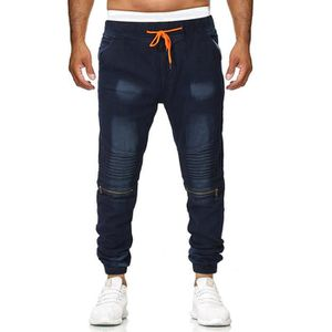 premium selection d2926 d162a JEANS Genou Denim Jeans Casual Détruit Mode Hommes Longu ...