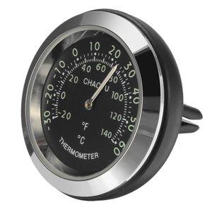HORLOGE - PENDULE LAVENT Voiture Horloge +thermomètre NOIR