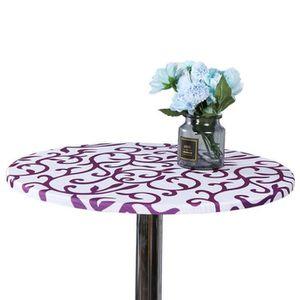 TABLE À MANGER SEULE VioletNappe de protection ronde lavable 60 cm pour