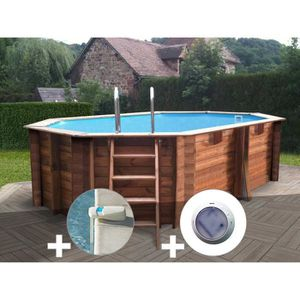 PISCINE Kit piscine bois Sunbay Grenade 4,36 x 3,36 x 1,19