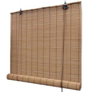 STORE DE FENÊTRE Store roulant Bambou 120 x 160 cm Brun