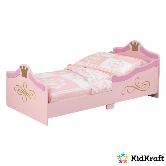 kidkraft lit princesse enfant 70x140 cm rose achat vente lit complet cdiscount. Black Bedroom Furniture Sets. Home Design Ideas