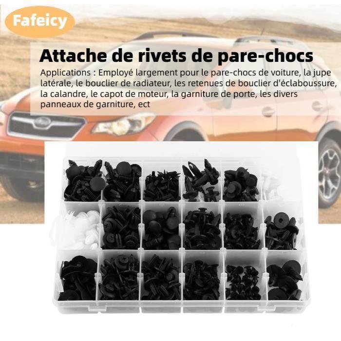 FAN - 18 tailles en plastique voiture SUV garniture Clips panneau de retenue pare-chocs attache avec conteneur boîte, 415 pièces