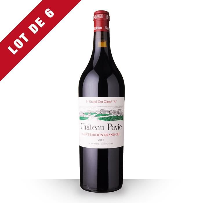 6X Château Pavie 2013 Rouge 75cl AOC Saint-Emilion Grand Cru - Vin Rouge