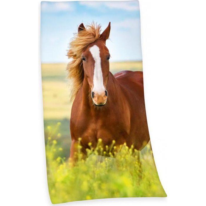 Serviette de plage cheval