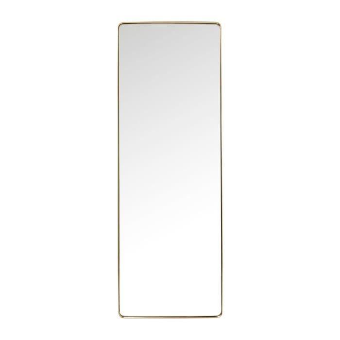 Miroir Curve rectangulaire laiton 200x70cm Kare Design