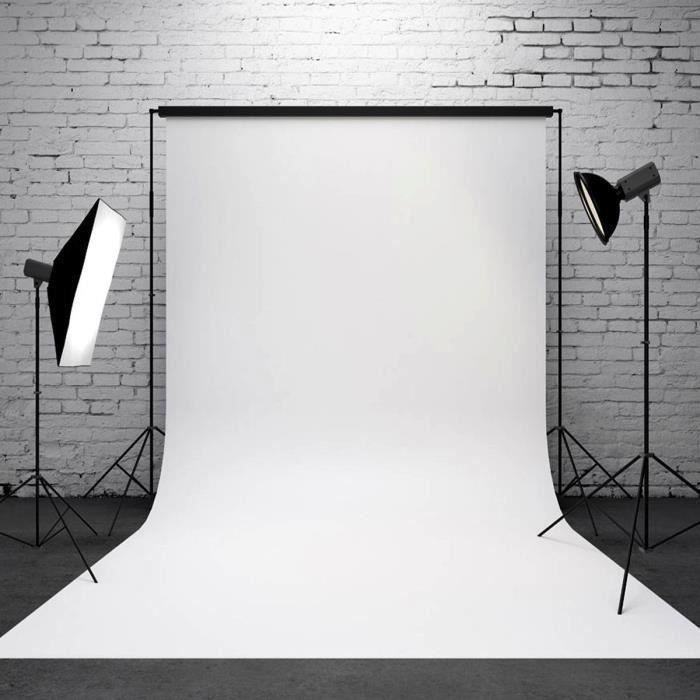 Toile de Fond Backdrop 90×150cm Photographie Studio Photo Blanc Me11279