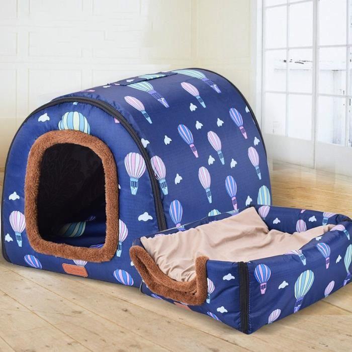Corbeilles,Niche pour chien Portable entièrement lavable Maison pour animal de compagnie, cylindre pour chien, maison - Type S #A